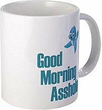GOOD MORNING ASSHOLE BLUE BIRD Mug Céramique 11