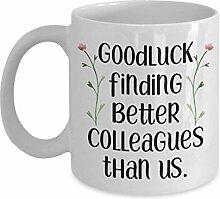 Goodluck Funny Colleague Collègues tasses cadeaux