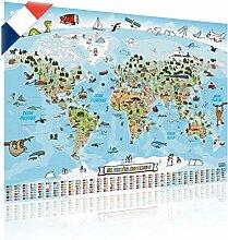 GOODS+GADGETS Carte du Monde panoramique pour