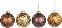Goodwill?: boules de Noël en verre Marbeled (mat)