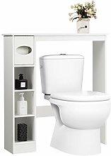 GOPLUS Étagère Dessus Toilette Compacte avec 4
