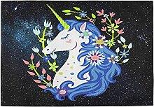 GOSMAO Guirlande de Fleurs de Licorne Magique