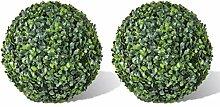 GOTOTOP 2PCS Boule de Buis Artificielle Plante