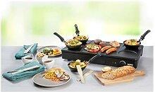 Gourmet-Set wok grill et crêpes 1000 W DO8712W