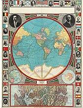 GPC 1913 Carte du monde colonial Power Canal