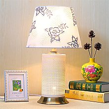 GQQ Lampe de Table En Céramique Blanche Motif