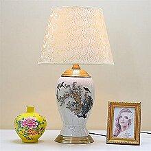 GQQ Lampe de Table En Céramique Chinois Hiver