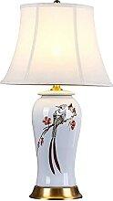 GQQ Lampe de Table En Céramique Chinoise Peinte