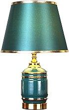 GQQ Lampe de Table En Céramique Dorée Vert