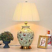GQQ Lampe de Table En Céramique Style Chinois