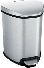 grace poubelle à pédale 5l inox mat
