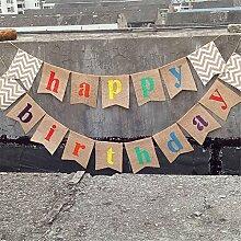 Gracelaza 17 pcs/2m 'Happy Birthday' fanions