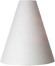 Grand abat-jour conique blanc