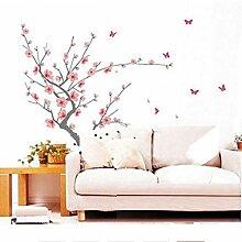 Grand Arbre De Fleur De Cerisier Sakura Papillon