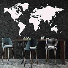 Grand Autocollant Carte Carte du Monde Stickers