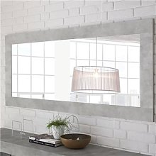 Grand miroir couleur béton clair design URBAN