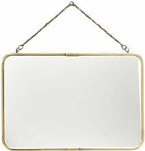 Grand miroir de barbier  avec chaîne or