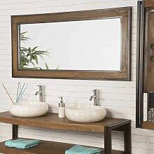 Grand Miroir de salle de bain Elégance teck