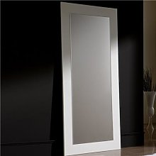 Grand miroir design blanc EUDORA-L 90 x P 3 x H