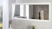Grand miroir design rectangulaire laqué blanc -