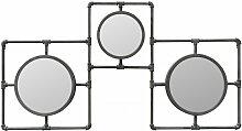 Grand miroir industriel tuyau 86x160