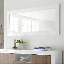 Grand miroir mural blanc laqué URBAN