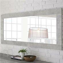 Grand miroir mural design gris clair SERENA