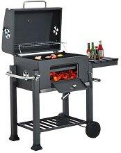 Grand Portable Barbecue Barbecue Charbon De Bois