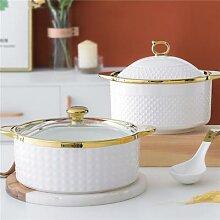 Grand Pot à soupe léger de luxe avec cuillère