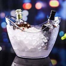 Grand seau à glace Transparent Portable pour