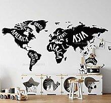 Grand Standard Carte du Monde Continent Nom Global