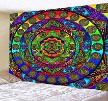 Grand tapis mural indien Mandala, couverture sur