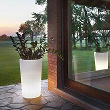 Grand vase lumineux design X-Pot 135 - Slide