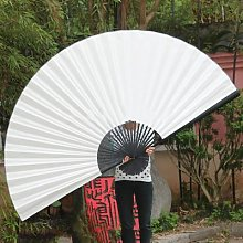 Grand ventilateur décoratif mural en tissu,