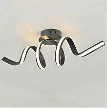 Grande Applique ou Plafonnier ondulée ruban LED