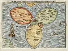 Grande carte du monde 1581 Trèfle à Jérusalem