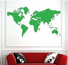 Grande Carte Du Monde Atlas Mondial Vinyle Art