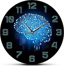 Grande Décoration Horloge murale Code binaire Art