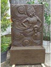 Grande fontaine de jardin mur d'eau déesse