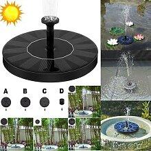 Grande fontaine solaire de jardin 16cm, fontaine