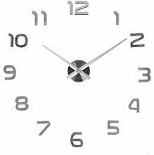 Grande horloge moderne murale silencieuse avec