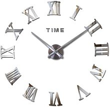 Grande horloge murale 3D, bricolage, grande