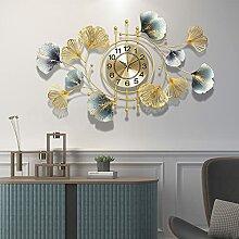 Grande Horloge Murale Feuille De Ginkgo,Geante
