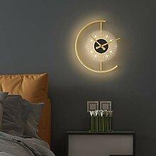 Grande Horloge Murale Numérique À LED Design 3D