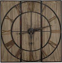 Grande horloge murale style industriel CHARLIE -