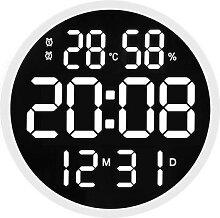 Grande horloge numérique lumineuse, silencieuse,