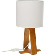 Grande lampe de table esprit Scandinave blanche