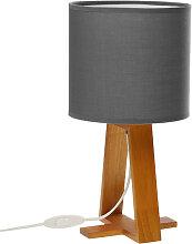 Grande lampe de table esprit Scandinave grise