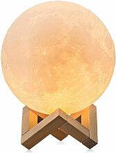 Grande Lune Lampe D'Eclairage Nocturne Led 3D