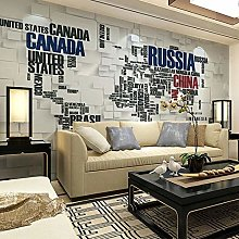 Grande photo murale papier peint 3D pour salon TV